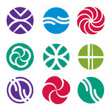 Abstract icon set, vector symbols collection. Web design graphic business objects Stock Photos