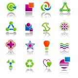 Abstract Icon & Symbols Set 01 Stock Photos