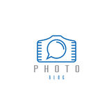 Abstract icon vector design template of photo Royalty Free Stock Image