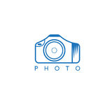 Abstract icon vector design template of photo Royalty Free Stock Photo