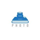 Abstract icon vector design template of photo Stock Photos
