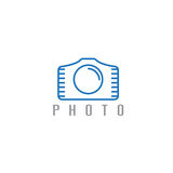 Abstract icon vector design template of photo Stock Image