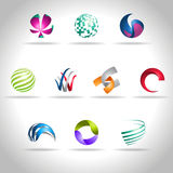 Abstract icon. Abstract web Icon and logo sample, vector illusration Royalty Free Stock Photography
