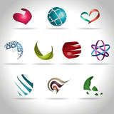 Abstract icon. Abstract web Icon and logo sample, vector illusration Stock Image