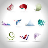 Abstract icon. Abstract web Icon and logo sample, vector illusration Stock Images