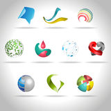 Abstract icon. Abstract web Icon and logo sample, vector illusration Stock Photos