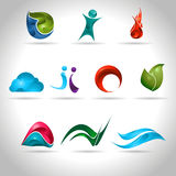 Abstract icon. Abstract web Icon and logo sample, vector illustration Royalty Free Stock Photos