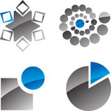 Abstract icons Stock Images