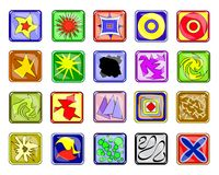 Abstract icons Royalty Free Stock Image