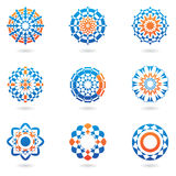 Abstract icons. Abstract colourful icons and ornaments royalty free illustration
