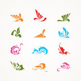 Abstract icons. Collection of colorful abstract icons Royalty Free Stock Photography