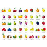 Abstract icons of fruits. For web Stock Image