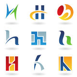 Abstract icons for letter H Stock Photography