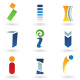 Abstract icons for letter I Royalty Free Stock Images