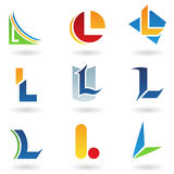Abstract icons for letter L Stock Image
