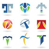 Abstract icons for letter T Stock Image