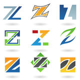 Abstract icons for letter Z Royalty Free Stock Image