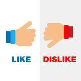 Abstract icons of like and dislike Royalty Free Stock Photography