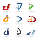 Abstract icons resembling letter D Royalty Free Stock Photos