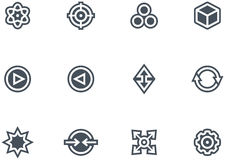 Abstract icons set. Original vector icons for web, software etc. on white background Royalty Free Stock Photo