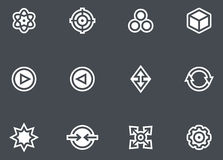 Abstract icons set Royalty Free Stock Image