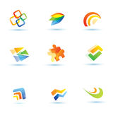 Abstract icons set. Collection of business symbols stock illustration