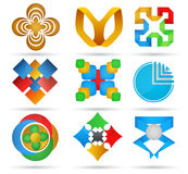 Abstract icons. Royalty Free Stock Photos