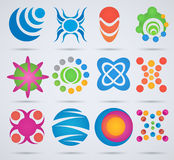 Abstract icons. Set of icons for design. Illustration Royalty Free Stock Photography