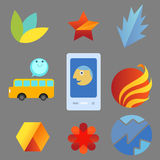 Abstract icons set Royalty Free Stock Photography