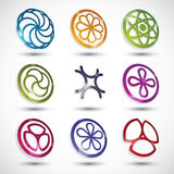 Abstract icons set. Royalty Free Stock Photos