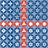 Abstract icons shurike Stock Images
