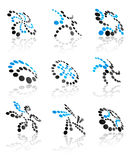 Abstract icons and symbols Royalty Free Stock Images