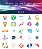 Abstract Icons & Symbols Pack 1 Royalty Free Stock Photos