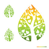 Abstract Icons Trees Background Design royalty free illustration