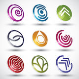 Abstract icons vector set. Royalty Free Stock Photo