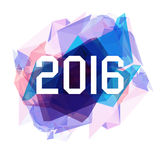 New Year 2016 Greeting card, abstract icy triangles background Stock Photo