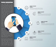 Abstract idea background. business infographic can be used stock photo