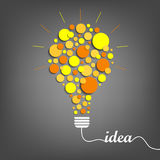 Abstract idea background with orange yellow bulb. Vector eps 10 Stock Photo