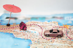 Abstract idea of rent a car. Royalty Free Stock Image