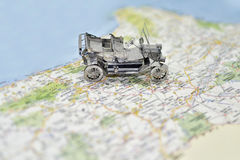 Abstract idea of rent a car. Royalty Free Stock Photo