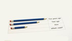 Abstract idee die zwarte potloden gebruiken Stock Foto's