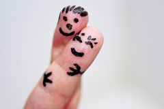 Abstract idee van gelukkig paar Stock Foto