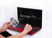 Abstract idee van het spelen online pook Stock Afbeeldingen