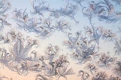 Abstract ijzig patroon op glas Royalty-vrije Stock Foto's