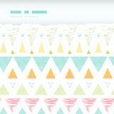 Abstract ikat triangles stripes horizontal torn Stock Photos