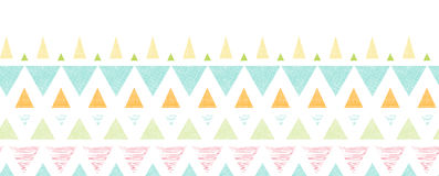 Abstract ikat triangles stripes horizontal. Vector abstract ikat triangles stripes horizontal seamless pattern background with hand drawn elements Royalty Free Stock Images
