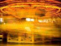 Abstract of an illuminated carousel Stock Photo