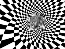 Abstract illusion. Black and white. 3d render Stock Images