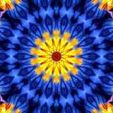 Abstract illusion design art with Yellow and Blue Colors stock image