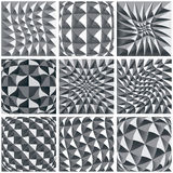Abstract illusive background, geometric figures. Abstract illusive black and white background, geometric figures Royalty Free Stock Photos
